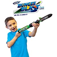 Bungee Blast Mini Foam Pump Rocket Toy with EZ-Pull Bungee Power Launch System by GeoSpace