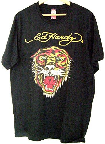 Preisvergleich Produktbild ED HARDY Designer T-Shirt Fauchender Tiger - Größe L (schwarz)