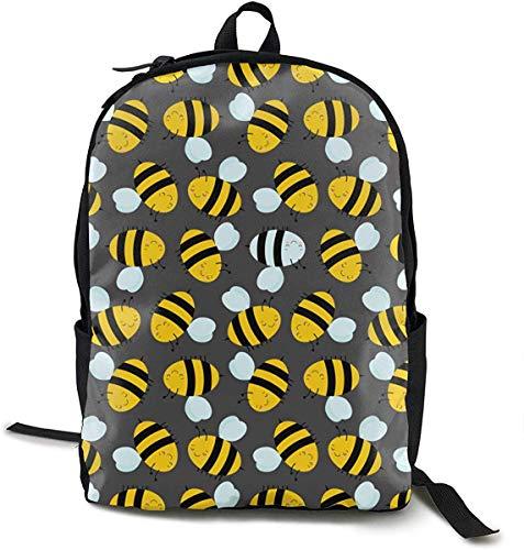 Colorful Guitar Ukulele Black Backpack School Bag Boys Girls Student Bookbag