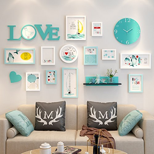 Wall-mounted Home Mall- Marco Fotos Modernos Reloj