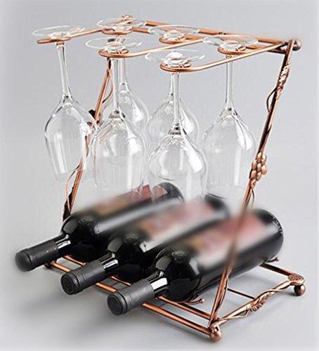 YANFEI Home Eisen Weinregal European Classic Buchstaben Styling hält Flaschen von Ihrem Lieblings-Wein Creative Display Regale , b (Messing-buchstaben-halter)