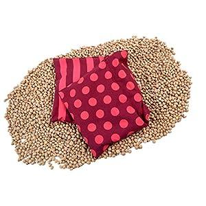 Asigo Kirschkernkissen 3 Kammer Wärmekissen 17 x 48 cm aus Baumwolle I sicherer und flexibler als Wärmflaschen I auch zur Kältetherapie geeignet I Deutscher Hersteller