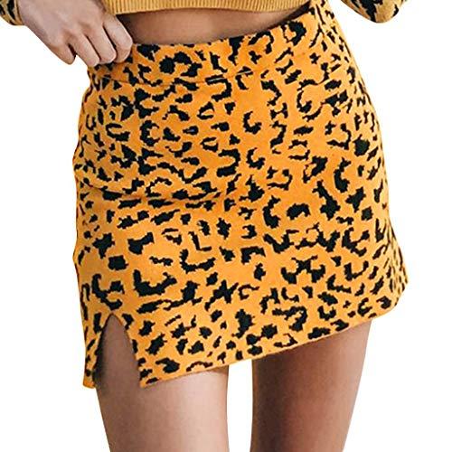 Vectry Falda De Tul Fiesta De Tutú para Mujer Plisadas Faldas Tallas Grandes Mujeres Split Leopardo Irregular Slim Fit Suéter Apretado Minifalda Corta Longitud Midi Falda Mujer Cortas Falda