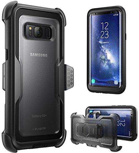 Samsung Galaxy S8+ Plus Hülle, i-Blason Outdoor Handyhülle [ArmorBox Serie] Stoßfest Robust Case / Cover / Schutzhülle mit 360 Grad Schwenkbar Gürtelclip ohne integriertem Displayschutz(2017 Ausgabe) schwarz