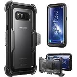 Etui pour Samsung Galaxy S8+ Plus (2017) de i-Blason [Serie Armorbox] Housse pour protection maximale avec technologie double couche et protection (noir)