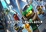 TV-24 Lego Ninjago Einladungskarten 12er Set inkl. 12 Umschläge E7