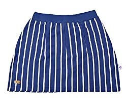 Lil Orchids Girls Yarn Dyed Navy Skort