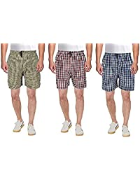 FN Style Men's Cotton Boxers (Multicolour, Free Size) - Pack of 3