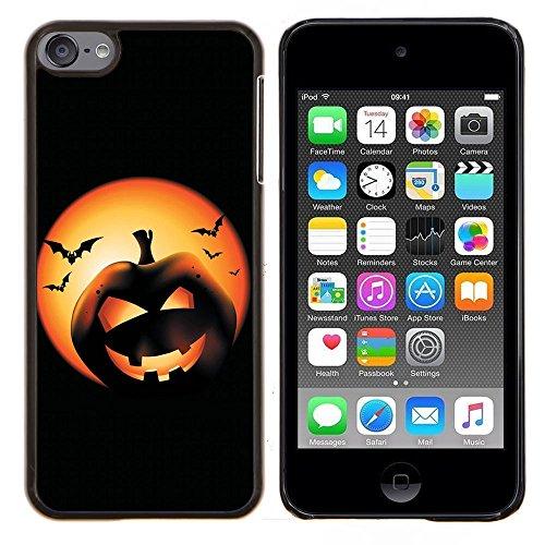 Graphic4You Halloween Allerheiligen Thema Kürbis Design Harte Dünn Hülle Tasche Schale Schutzhülle für Apple iPod Touch 6 (Halloween Mp3 Thema 6)