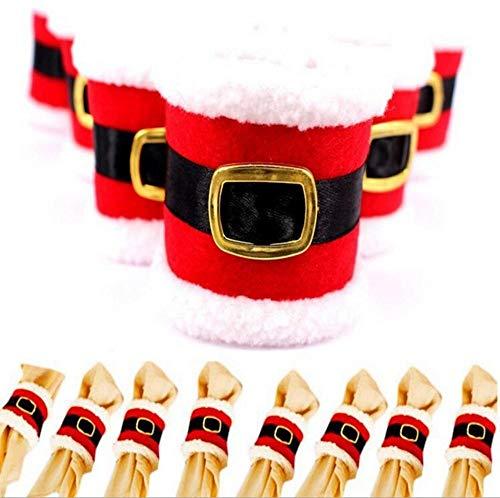 SPFAZJ Weihnachten Dekoration Weihnachten Dekorationen Gürtelschnalle Serviette Ring Neue Weihnachts-Gürtelschnalle Serviette setzen kreative GOO DS
