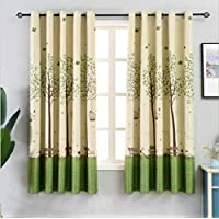 GJXY Kids Blackout Curtains for Bedroom - Eyelet Thermal Insulated Wishing - tree Print Room Darkening Curtains for Living Room,1pcs,W150*200cm