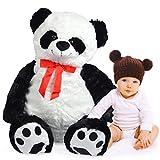 Pink Papaya Mega Riesen XXL Kuschel-Bär Panda Pan Tao, 120cm XXL Plüsch-Bär in schwarz-weiß, Stoff-Teddy, Panda-Bär, XXL Plüsch-Teddybär zum Liebhaben Toys