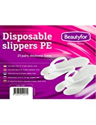 dab3dd908eb1 25 Pairs Disposable Slippers PE for beauty treatments and spa