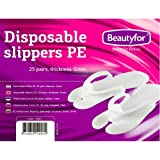 25 Pairs Disposable Slippers PE for beauty treatments and spa