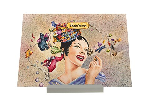 picture-frame-fantasy-motif-brainwashing-woman-head-thoughts-clothesline-decorative-plate