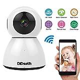 DIDseth IP Kamera | Wireless Überwachungskamera WLAN Kamera, Cloud Speicher, 1080P IR Nachtsicht Mobile APP Kamera-Sicherheitssystem Pan/Tilt WiFi 2-Wege Baby Monitor mit Bewegungsmelder