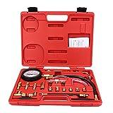 KKmoon Tester di Pressione Pompa Iniezione Carburante, Manometro Iniettore, Test Benzina 0-140psi