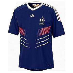 adidas maillot football equipe france fff domicile junior bleu roi blanc 14 ans. Black Bedroom Furniture Sets. Home Design Ideas