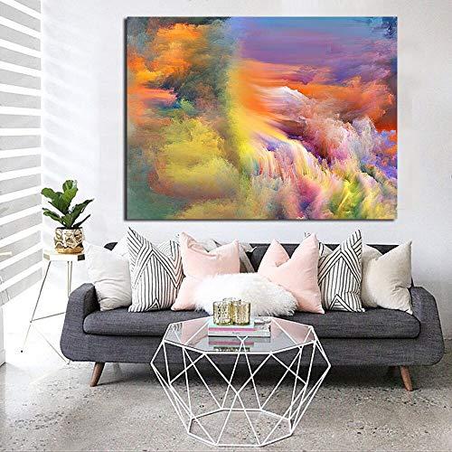 Geiqianjiumai Moderne Inneneinrichtungs-Ölgemäldewohnzimmerwandmalerei der abstrakten bunten Wolke, die rahmenlose Malerei Malt