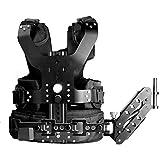 Neewer réglable DSLR Metal Camcorder Camera Stabilisateur d'épaule Charge Gilet Rig avec 16mm mitigeur Arm, Capacité de charge 5-8 kg / 11-17 lb, for Handheld Stabilisateur, Photographie, Vidéo, Film Making