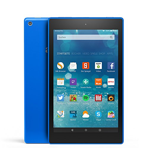 Fire HD 8-Tablet, 20,3 cm (8 Zoll), HD-Display, WLAN, 16 GB (Blau) - mit Spezialangeboten