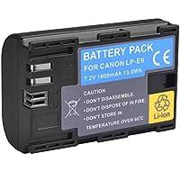 BPS Batterie de Remplacement LP-E6 LPE6N rechargeable pour Canon 60D 60Da 70D 80D 5D Mark II/III/IV 5DS/5DS R 6D 7D/7D Mark II