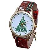 LILICAT_Bekleidung Frauen Uhren Damen Weihnachten Anhänger Uhren Lässige Pailletten Farbe Gürtel Quarzuhr