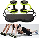 VOZIPA Revoflex Xtreme Multifunction Pull Rope Wheeled Health Abdominal Muscle Training/Total Body Workout Back Exercise Fat Loss Home Gym Equipment Fitness Body Toner for Men and Women (Multicolour)
