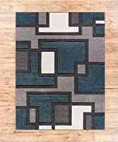 Echo Shapes & Circles Red / Grey Modern Geometric Comfy Casual Hand Carved Runner Rug Easy to Clean Stain Fade Resistant Shed Free Abstract Contemporary Thick Soft Plush Living Room from Well Woven