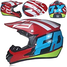 Casco Integral para Motocicletas Todoterreno, Casco de Motocicleta con patrón Personalizado para Hombres, Cascos