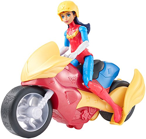 DC Super Hero Girls Wonder Woman Action Figure with Motorcycle Englisch Version (Wonder Woman Kids Outfit)