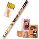 Didgeridoo Starterpack \'\'flambé\'\' australien cire d?abeille + DVD