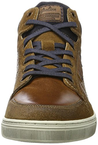 AUSTRALIAN Kensington Leather, Sneaker a Collo Alto Uomo Mehrfarbig (Tan-Blue-Off White)