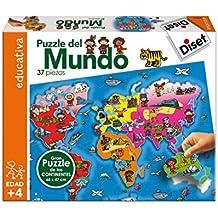 Diset - Puzzle del mundo (63627)