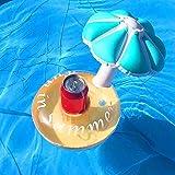 GEZICHTA aufblasbar Getränkehaltern Floating Regenschirm Getränkehalter Pool Untersetzer Pool Party Float Ihre Getränke in Style, blau