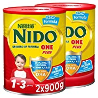 Nestlé Nido One Plus Growing Up Milk Powder Tin For Toddlers 1-3 Years, 900g (2 Tins)