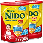 Nestle NIDO One Plus Growing Up Milk Powder Tin For Toddlers 1-3 Years, 900g (2 Tins)