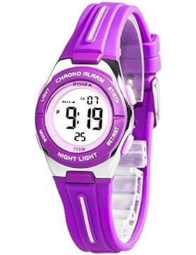 Kleine sportliche Armbanduhr digital XONIX Damen Kinder WR100m, 6D81JU2/5