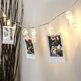 Peg Fairy Lights - Photo Holder - Battery Operated - Warm White LEDs - 2m by Festive Lights