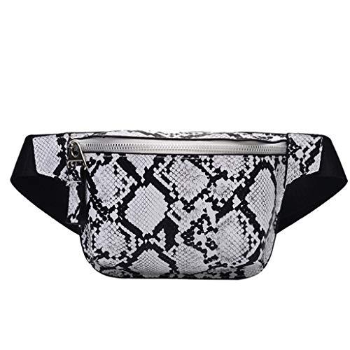 Zolimx Frauen Outdoor Reißverschluss Serpentine Messenger Bag Brusttasche Gürteltasche Handytasche