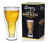 Dragon Glassware Bierglas, 400 ml Doppelwandiges Isolierglas, in Geschenkverpackung - 7