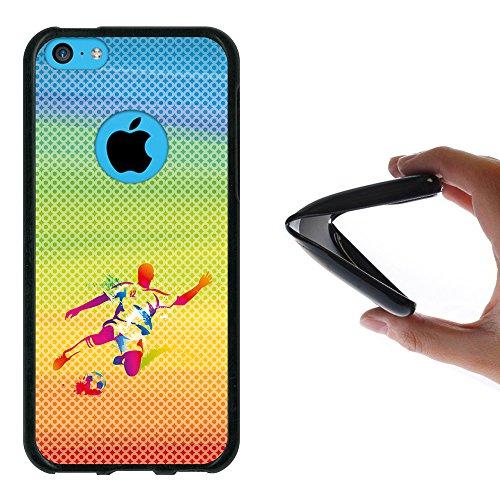 WoowCase Hülle Case für { iPhone 5C } Handy Cover Schutzhülle Schwarzer Basketballspieler Housse Gel iPhone 5C Schwarze D0504