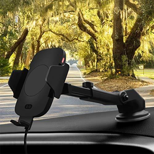 Bearbelly Intelligente Infrarotinduktions-automatische Auto-drahtlose Aufladeeinheit, 2-in-1 10W Autotelefon-Halter-Aufladeeinheits-Haltewinkel-Luftauslass-Saugnapf-drahtlose Ladestations-Auflage (Samsung Galaxy Für Cricket 2)