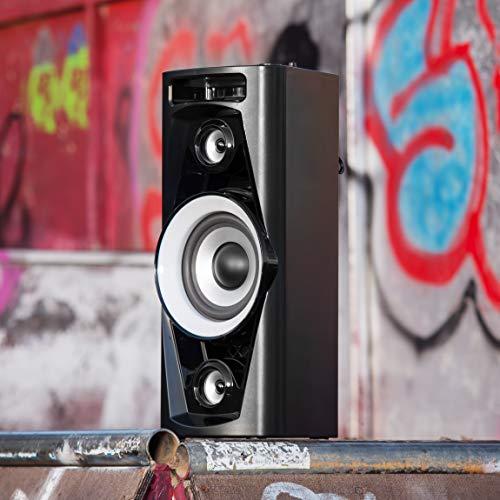 Reflexion PS07BT Mobile Discosoundmaschine (inkl. Bluetooth, Radio, 2x USB, AUX-IN, Karaokefunktion und Akku) schwarz - 9