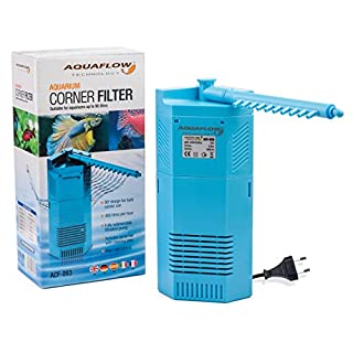 Aquaflow Technology® ACF-092 - Inneneckfilter/Eckwasserpumpe für Aquarien und Fischbehälter – geeignet für Tropen- oder Salzwasserbecken