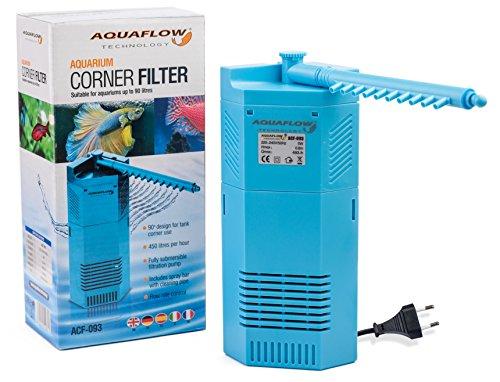Aquaflow Technology® ACF-093 - Inneneckfilter und Wasserpumpe für Aquarien und Fischbehälter - geeignet für Tropen- oder Salzwasserbecken - Aquarienpumpe