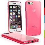 igadgitz u5511Transparent Brillant de Protection Etui Gel TPU pour Apple iPhone 74.7Case Coque + Protecteur D'Écran–Rose
