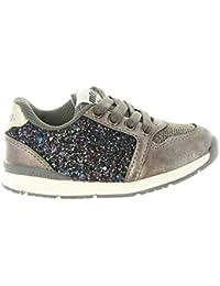 MTNG Kids Cheiw 47293-1 - Zapatillas Infantil Niña Glitter Plata belcro (20) 7d96pwbU