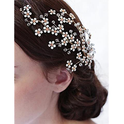 ZY Da donna/strass/lega/headpiece-wedding/Occasioni speciali/Casual capelli pettini per capelli, 1 Pezzi Avorio, Gold