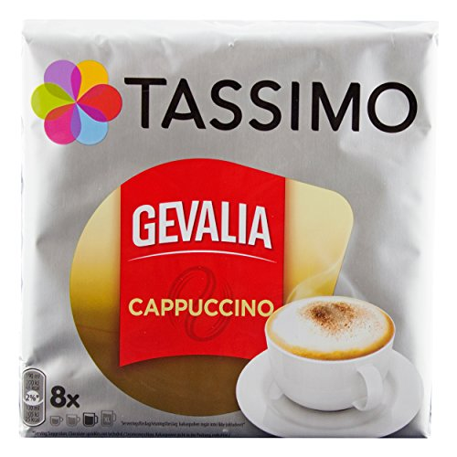 Tassimo Gevalia Cappuccino, Kaffee, Kaffeekapsel, Gemahlen, 40 T-Discs / Portionen (Gevalia T-discs Kaffee)
